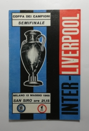 1965 European Cup Semi Final Programme Inter Milan vs Liverpool