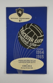 1965 League Cup Final 2nd Leg Leicester vs Chelsea football programme