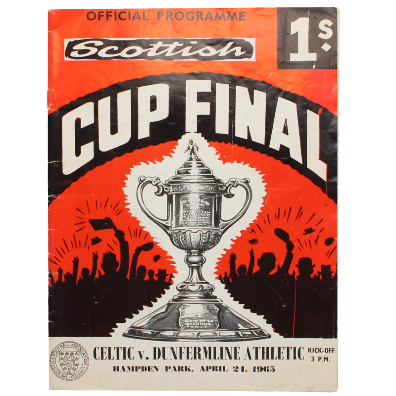 1965 Scottish Cup Final Celtic vs Dunfermline Athletic programme