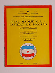 1966 European Cup 'Real Madrid vs Partizan Belgrade' Programme