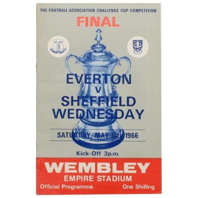 1966 F.A Cup Final Everton vs Sheffield Wednesday programme