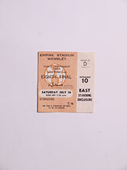 1966 World Cup England vs Mexico Group Stage Ticket