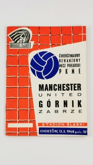 1967-68 Gornik Zabrze vs Manchester United programme