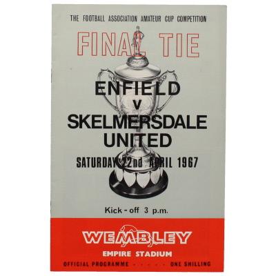 1967 Amateur Cup Final Enfield vs Skelmersdale United programme