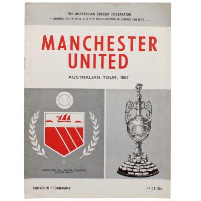 1967 Australian tour Victorian State League vs Manchester United