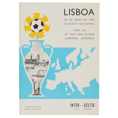 1967 European Cup Final Inter Milan vs Celtic programme