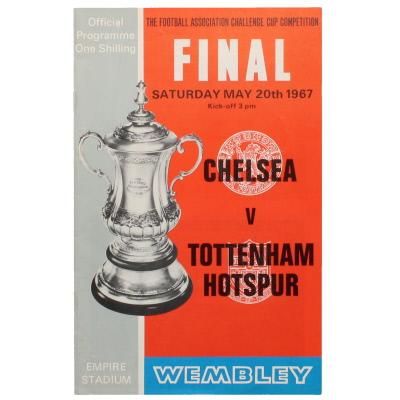 1967 F.A Cup Final Chelsea vs Tottenham Hotspur programme