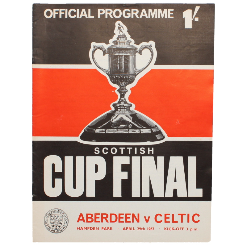 1967 Scottish Cup Final Aberdeen vs Celtic programme
