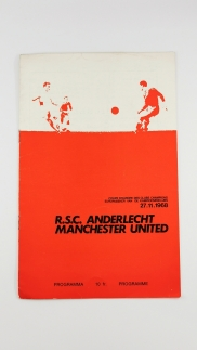 1968-69 Anderlecht vs Manchester United programme