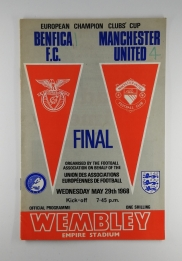 1968 European Cup Final Benfica vs Manchester United Programme
