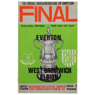 1968 F.A Cup Final Everton vs West Bromwich Albion programme