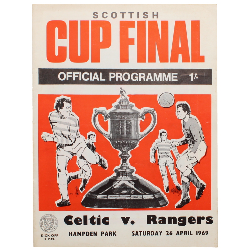 1969 Scottish Cup Final Celtic vs Rangers programme
