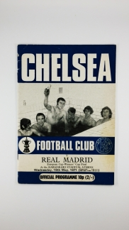 1971 European Cup Winners Cup Final Chelsea vs Real Madrid Programme Chelsea Edition