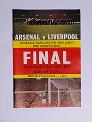 1971 F.A Cup Final 'Arsenal vs Liverpool' Programme