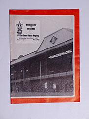 1971 F.A Cup Semi Final Replay 'Stoke City vs Arsenal' Programme