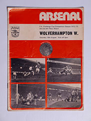 1973 F.A Cup 3rd Place Match 'Arsenal vs Wolverhampton Wanderers' Programme