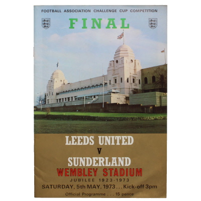 1973 F.A Cup Final Leeds United vs Sunderland programme