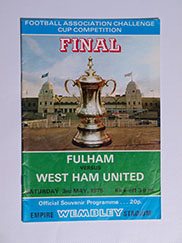 1975 F.A Cup Final Fulham vs West Ham United Programme