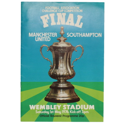1976 F.A Cup Final Manchester United vs Southampton programme