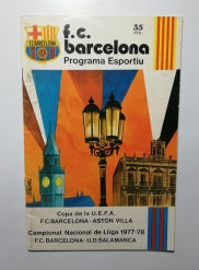 1977-78 Barcelona vs Aston Villa UEFA Cup Quarter Final 2nd Leg