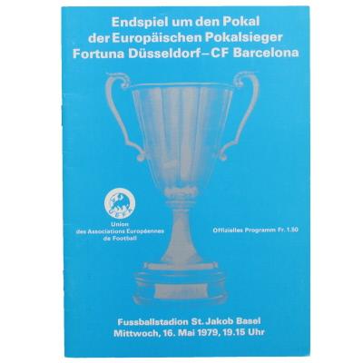 1979 European Cup Winners Cup Final Barcelona vs Fortuna Dusseldorf programme