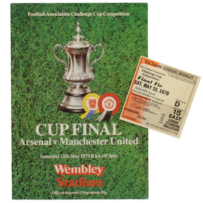 1979 F.A Cup Final Arsenal vs Manchester United programme and ticket