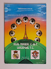 1981 European Cup Final Programme, Real Madrid vs Liverpool