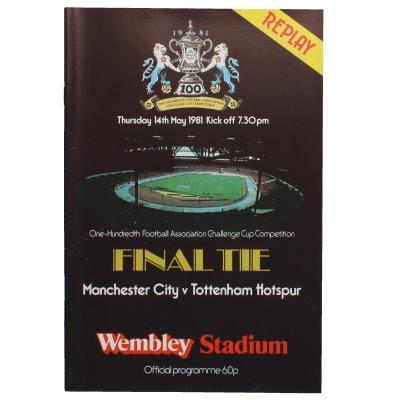 1981 F.A Cup Final Replay Manchester City vs Tottenham Hotspur programme