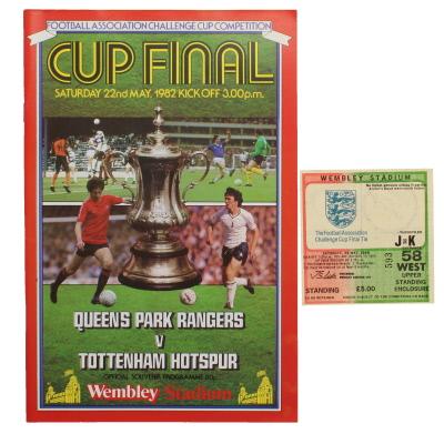 1982 F.A Cup Final Queens Park Rangers vs Tottenham Hotspur programme and ticket
