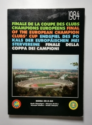 1984 European Cup Final Roma vs Liverpool Rare Black Edition
