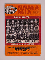 1984 Uefa European Cup Final 'Roma vs Liverpool' Roma Mia Edition Programme