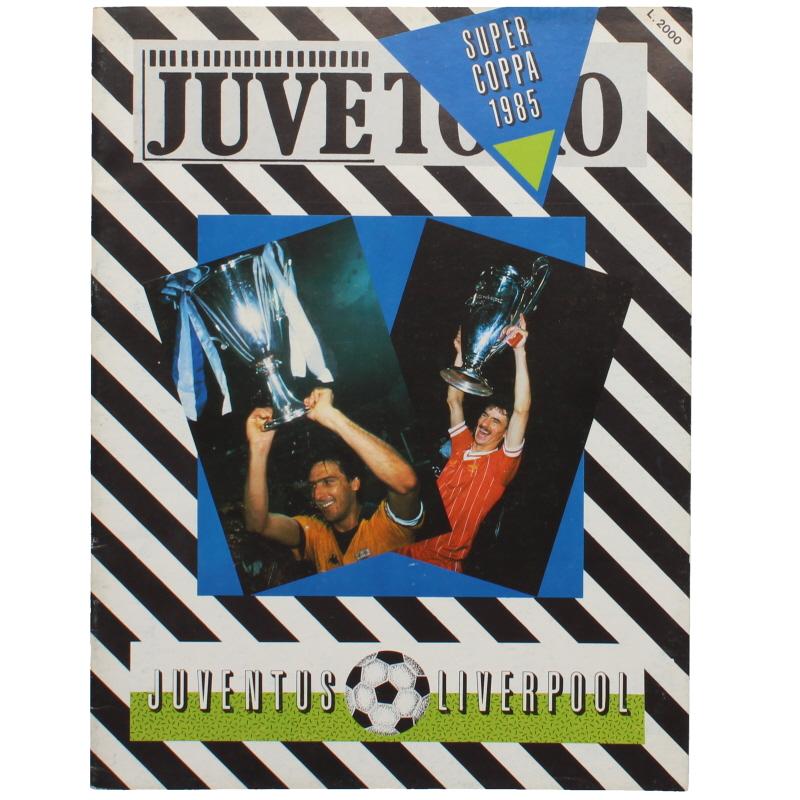 1985 European Super Cup Final Juventus vs Liverpool programme