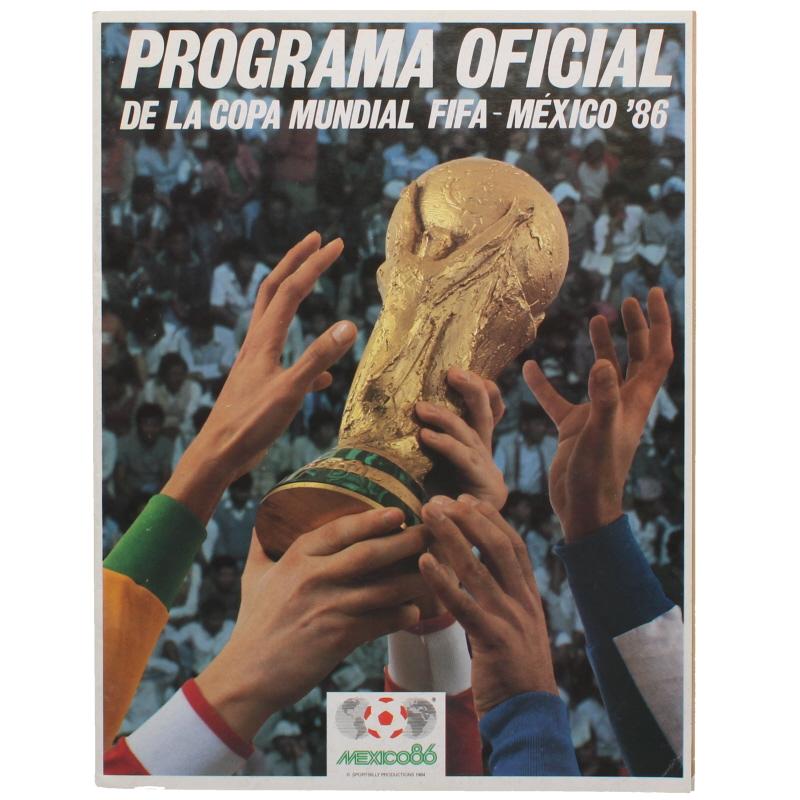 1986 World Cup Official Tournament Brochure