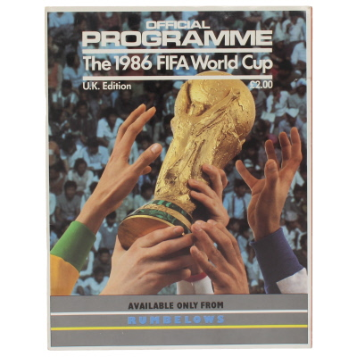 1986 World Cup Tournament Brochure U.K Edition