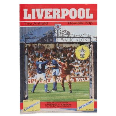 1988-89 Liverpool vs Arsenal Programme Title Decider
