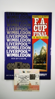1988 F.A Cup Final Liverpool vs Wimbledon programme and ticket