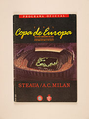 1989 European Cup Final 'Steaua Bucharest vs AC Milan' Programme