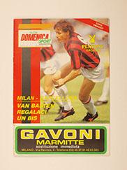 1989 UEFA Super Cup Final 'A.C Milan vs Barcelona' Programme 'Nuova Domenica' Edition