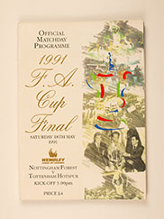 1991 F.A Cup Final 'Nottingham Forest vs Tottenham Hotspurs' Programme Includes Poster