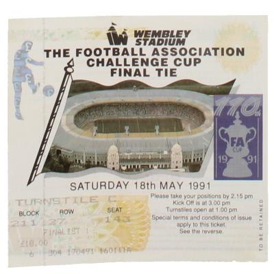 1991 F.A Cup Final Nottingham Forest vs Tottenham Hotspur ticket