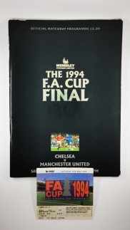 1994 F.A Cup Final Chelsea vs Manchester United programme and ticket