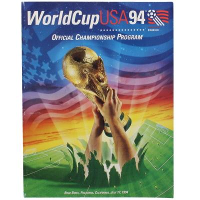 1994 World Cup Final Brazil vs Italy programme
