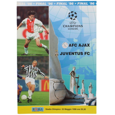 1996 Champions League Final Ajax vs Juventus programme