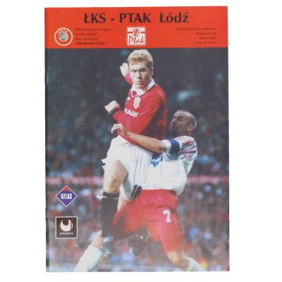 1998-99 LKS Lodz vs Manchester United programme