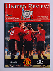 1998-99 Manchester United vs Newcastle United 'Treble Season Programme'