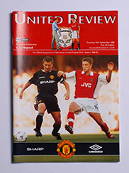 1998-99 Manchester United vs Liverpool 'Treble Season Programme'
