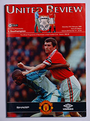 1998-99 Manchester United vs Southampton 'Treble Season Programme'