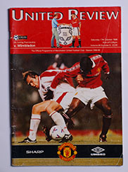 1998-99 Manchester United vs Wimbledon 'Treble Season Programme'