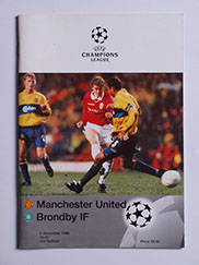 1998-99 UEFA Champions League Manchester United vs Brondby 'Treble Season Programme'