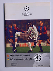1998-99 UEFA Champions League Manchester United vs Inter Milan 'Treble Season Programme'